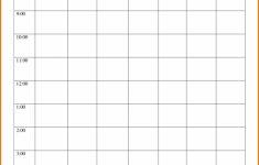 Time Block Schedule Template Printable Schedule Template