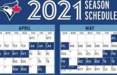 Toronto Blue Jays 2021 Team Schedule Batting Order