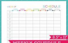 Weekly Schedule Template Printable Printable Schedule