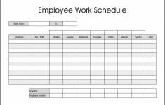 Printable Employee Schedule