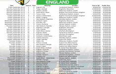 2015 Rugby World Cup Schedule Pacific Time