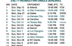 2021 2022 Philadelphia Eagles Lock Screen Schedule For