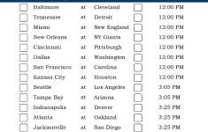 Central Time Week 2 NFL Schedule 2016 Printable