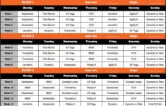 Download P90X3 Lean Schedule And Calendar P90x3 Workout