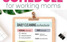 Easy Printable Cleaning Schedule For Working Moms
