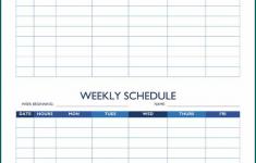 Free Printable Week Schedule Template Bogiolo