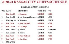 Kc Chiefs Schedule 2021 2022 Printable Chiefs Printable