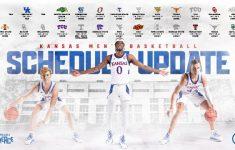 KU Men S Basketball Announces Revised 2020 21 Schedule