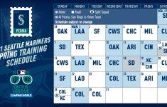 Mariners Schedule 2021 Calendar