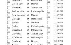 Mountain Time Week 17 NFL Schedule 2016 Printable