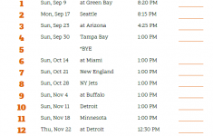 Printable 2018 Chicago Bears Football Schedule Chicago