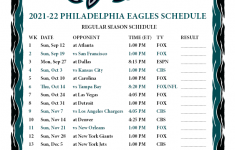Printable 2021 2022 Philadelphia Eagles Schedule