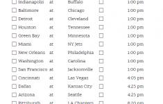 Printable NFL Week 11 Schedule Pick Em Pool 2020
