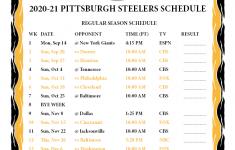 Steelers Schedule 2021 2022 Printable Schedule Printable