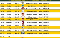 The Packers 2021 22 Schedule And Thoughts Die Hard