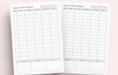 Weekly Study Schedule Printable Set Student Planner Agenda